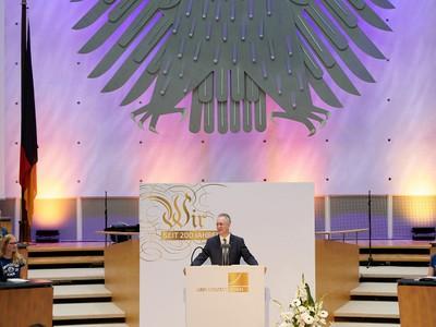 Prof. Dr. Dr. h.c. Michael Hoch beim Festakt 200 Jahre Universität Bonn. Foto: Volker Lannert/Uni Bonn.