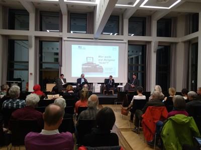 Zahlreiche Interessierte waren zur Podiumsdiskussion im Rahmen des Jubiläums 200 Jahre Universität Bonn erschienen. (c) Konermann/Uni Bonn