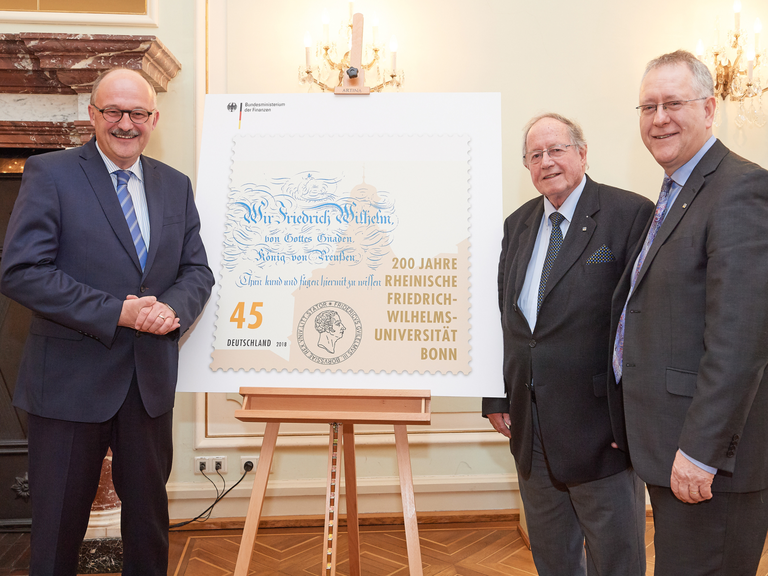 Right click to download: Sonderbriefmarke 200 Jahre Universität Bonn